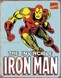 Iron Man Retro Tin Sign , 12x16 (Marvel Sign compare prices)