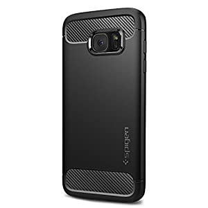 Spigen Rugged Armor Galaxy S7 Edge Case with Resilient Shock Absorption and Carbon Fiber Design for Samsung Galaxy S7 Edge 2016 - Black from Spigen