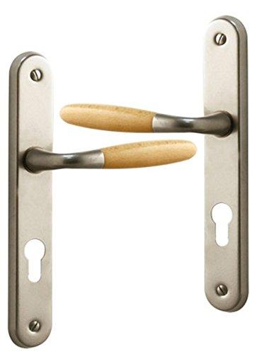 poignee-de-porte-exterieure-design-en-aluminium-nickel-mat-et-bois-clair-sur-plaque-cle-i-entraxe-19