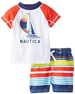 Nautica Baby-Boys Infant Rashguard Swim 2 piece Set from Nautica