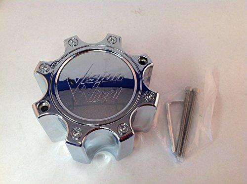 Vision Wheel Chrome Center Cap 8 lug Tall C375-8CDOC for Vision Warrior 375 Wheel