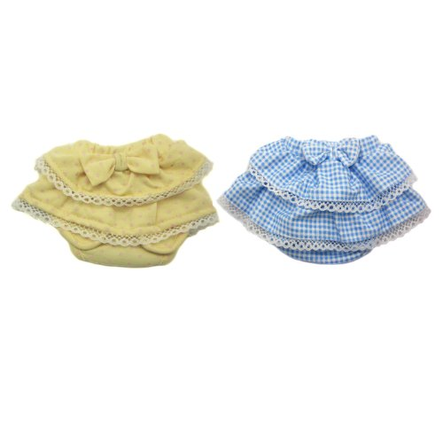 Alfie Pet Apparel By Petoga Couture - Ami Diaper Dog Sanitary Pantie 2-Piece Set - Colors: Blue And Yellow, Size: Small (For Girl Dogs) front-1075857