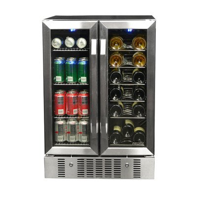 Cheap NewAir AWB-360DB 18 Bottle 60 Can Dual Zone Built-In WIne & Beverage Cooler, StaInless Ste...