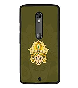 Maa Durga 2D Hard Polycarbonate Designer Back Case Cover for Motorola Moto X Style :: Moto X Pure Edition