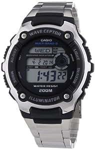 Casio Wave Ceptor - WV-200DE-1AVER - Montre Homme - Quartz Digitale - Bracelet en Acier - Radio Pilotée - Multifonctions