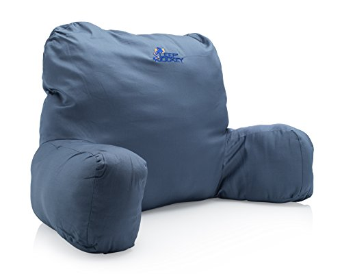 Premium Therapeutic Grade Bed Rest & Reading Pillow - Egyption Cotton Bed Reading Pillow(Blue) (Rest Upright Pillow compare prices)