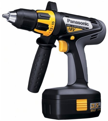Panasonic EY6450GQKW 18-volt NiMH 1/2-inch Cordless Drill/Driver Kit