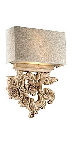 Ideal Lux Peter AP2 Lampada da Parete, Resina, Legno