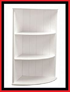 Bathroom corner shelves storage unit mdf wall mounted 3 - White bathroom corner shelf unit ...