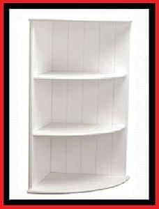 Bathroom Corner Shelves Storage Unit Mdf Wall Mounted 3 Tier White Kitchen Home