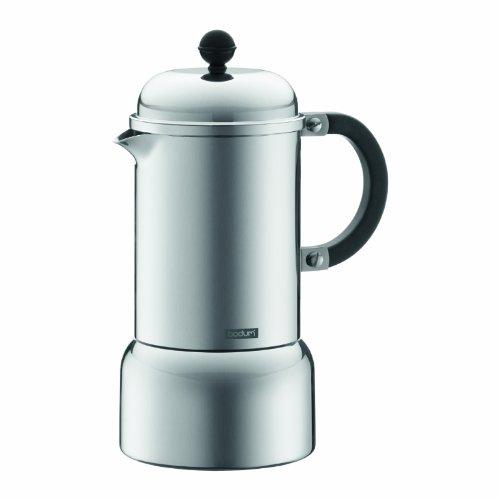 Bodum Chambord Aluminum Stovetop Espresso Maker, 12-Ounce (Mettalic)