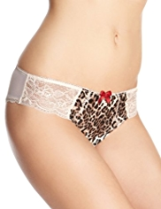 Limited Collection Low Rise Animal Print Brazilian Knickers