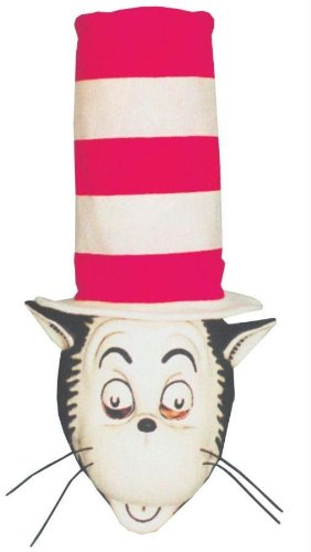 Costumes For All Occasions 14018 Cat In The Hat Mask W Hat