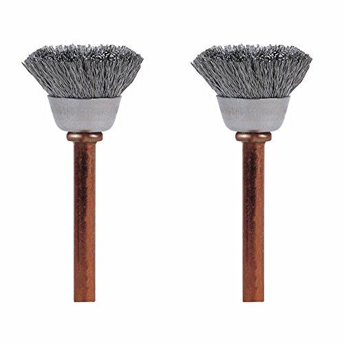 Dremel 531-02 Stainless Steel Brushes (2 Pack), 1/2