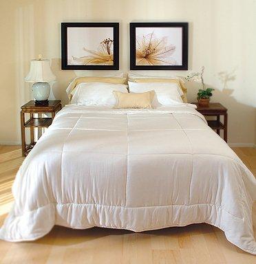 DreamSacks Full/Queen Silk Comforter-White