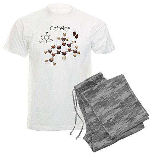 Royal Lion Men'S Light Pajamas Caffeine Lover 3D Atomic Structure - Gray Camo, 2X