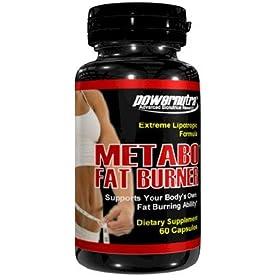 Metabo Fat Burner - 60 Capsules Extreme Fat Burner Formula Lipotropics L-Carnitine Weight Loss Diet Pills