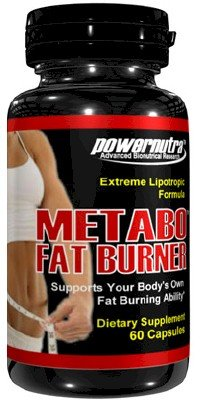 Metabo Fat Burner - 60 Capsules Extreme Fat Burner Formula Lipotropics L-Carnitine Weight Loss Diet Pills
