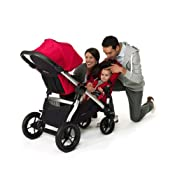 Baby Jogger City Select Silver Frame Stroller Ruby Baby