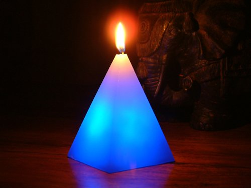 Glo-Wax Pyramid Shaped Colour Changing Dreaming LED Magic Candle