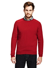 2in Longer Blue Harbour Extrafine Pure Lambswool Crew Neck Jumper