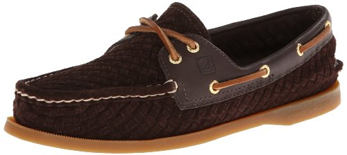 Sperry Top-Sider Women'S A/O Woven Boat Shoe,Dark Brown,7.5 M Us
