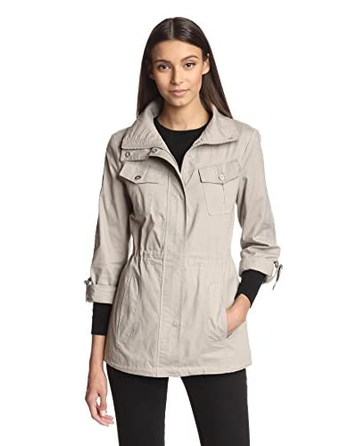 Jessica Simpson Women's Roll-Sleeve Field Jacket  [Smoke]