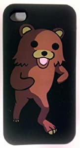 Pedobear - Premium Soft Silicone Rubber Black Phone Protector Skin Cover Case for Apple Iphone 4g/4s (AT&T /Verizon/Sprint)
