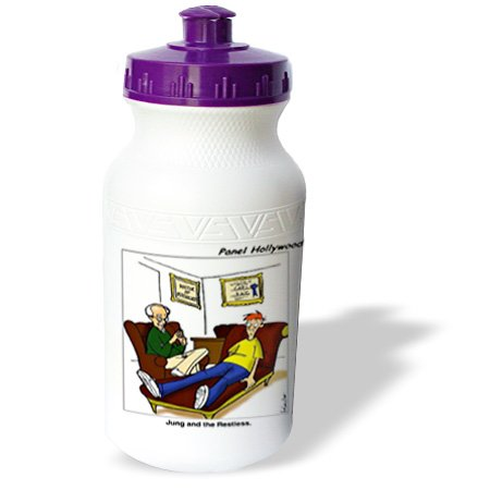 Wb_2284_1 Londons Times Funny Medicine Cartoons - Jung And Restless - Water Bottles front-32284