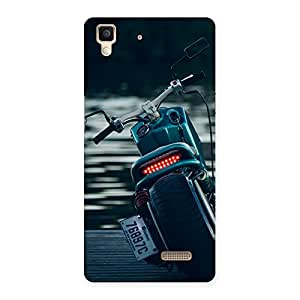 Gorgeous Bike Chopper Multicolor Back Case Cover for Oppo R7
