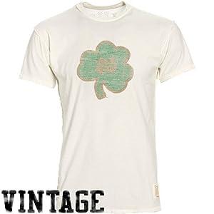NCAA Original Retro Brand Notre Dame Fighting Irish Cream Mirrored Inside Out Vintage T-shirt (XX-Large)