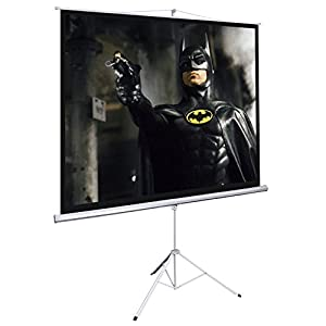 120 Inch HD 4:3 Manual Pull Down Projector Screen Foldable Tripod Stand 96