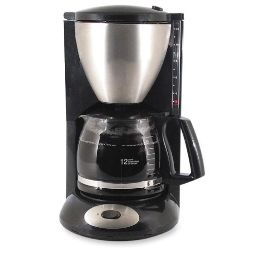 Euro Style Coffeemaker - 12 Cup(s) - Black