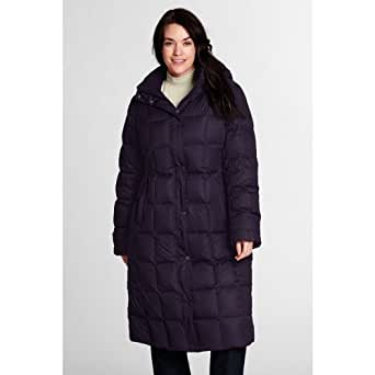 Lands' End Women's Plus Size Down Chalet Long Coat, 2X
