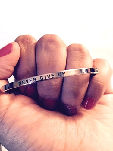 NEVER GIVE UP: Gift for Her,Mantra Bracelet, Inspirational gift,100% Guaranteed,Perfect Gift.
