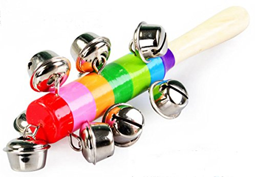 Botanmu-2PCS-Kids-Baby-Child-Educational-Wooden-Rainbow-Bells-Toys