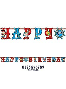 Jake & the Neverland Pirates Add an Age Jumbo Birthday Banner from Amscan