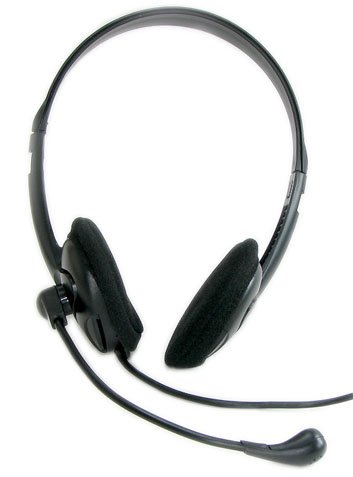 Bergtek HS205 Stereo Headset with Microphone and Volume Control