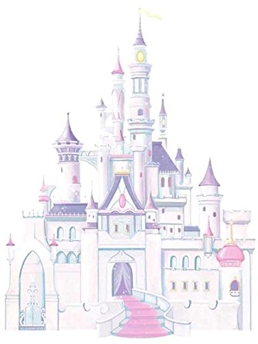 Roommates Rmk1546Gm Disney Princess Glitter Castle Peel & Stick Giant Wall Decal front-315068