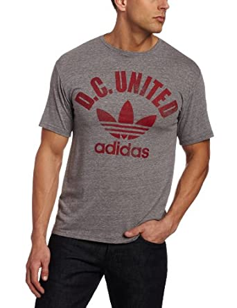 MLS DC United Sp12 Large Trefoil Tri-Blend Short Sleeve T-Shirt by adidas