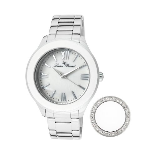 Lucien Piccard Women's 11662-22MOP Gran Paradiso White Mother-Of-Pearl Dial Stainless Steel Watch