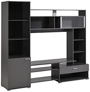 parisot opus tv wall unit grey. Black Bedroom Furniture Sets. Home Design Ideas