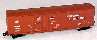 Micro Trains N 75070, 50' Standard Box Car, Double Plug Doors, w/o Roofwalk, Wisconsin & Southern WSOR #503135 (N Scale)