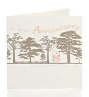 Couple Swing, Glitter Lettering Anniversary Card