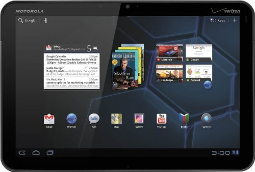 Motorola Xoom 10.1 inch Android Tablet (1GB RAM, 32GB Memory, Wi-Fi, Android 3.0, Up to 10hrs battery life)