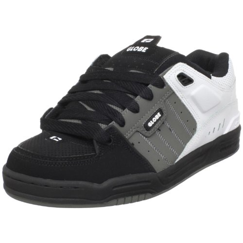 Globe Men's Fusion Skate Shoe,Black/Charcoal/White,8 D US