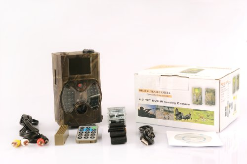"""Gemtune G-300 Infrared Trail Camera With Night Vision, 2"""" Lcd Display, 36 Ir Leds, No Glow, Invisible At Night!"""