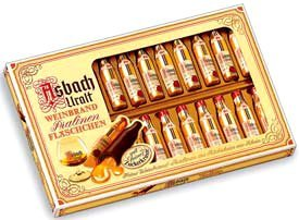 Asbach Uralt Brandy Filled Chocolates in 20 Bottle Window Gift Box - 250g/8.8oz