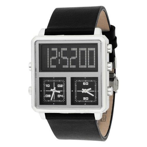 Black Dice Men's BD040-01 Entourage Triple-Time Zone Fashion Watch