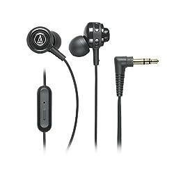 Audio-Technica SonicSport ATH-COR150ISBK In-Ear Headphones with Mic (Black)